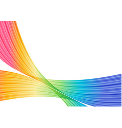 multicolored striped frame abstract curves vector image vector image