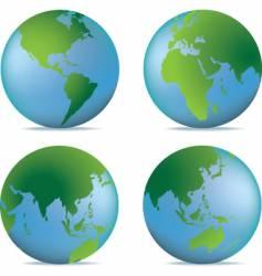 natural globe vector image vector image