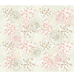 seamless cute floral pattern vector image vector image