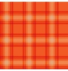Seamless orange fabric tartan vector image
