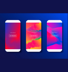 Abstract backgrounds for mobile phones vector