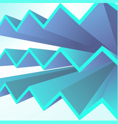 Abstract geometric background with blue triangle vector