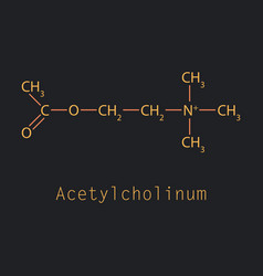 Acetylcholine is an organic chemical that vector