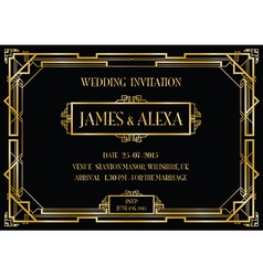 great gatsby invitations vector images over 2 400