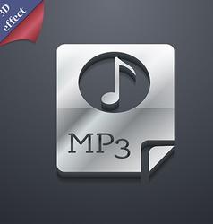 Audio MP3 file icon symbol 3D style Trendy modern vector image
