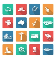Australia icons set white vector
