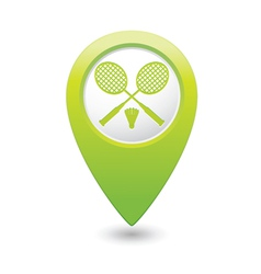 Badminton green map pointer vector