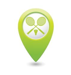 badminton GREEN map pointer vector image