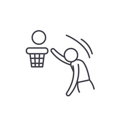 basketball line icon concept basketball vector image