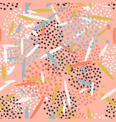 beautiful abstract pattern with dots and lines vector image