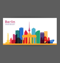 Berlin colorful architecture vector