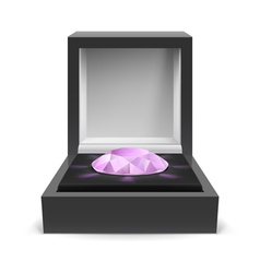 Box for diamond vector