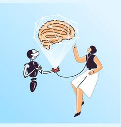 Brain health medical checkup vector
