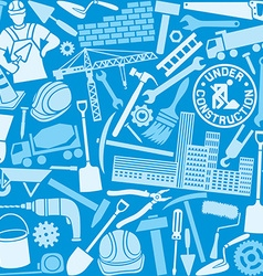 building icon seamless pattern vector image