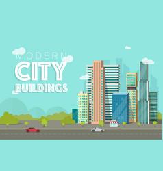 Buildings city flat vector