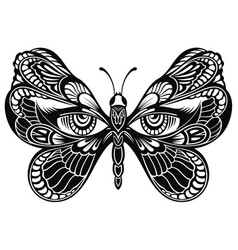 butterfly wings with human eyes vector image