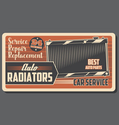 Car service auto radiator and engine cooling vector