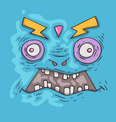 cartoon monster face halloween vector image