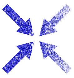 Center arrows grunge textured icon vector