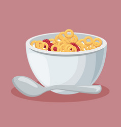 cereal dish isolated icon vector image