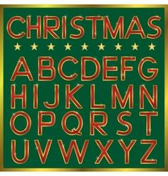 Christmas Font vector
