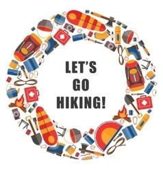 circular of camping and hiking vector image