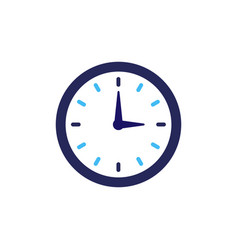 clock icon flat design element watch vector image