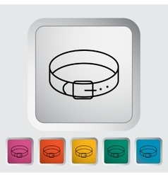 Collar icon vector