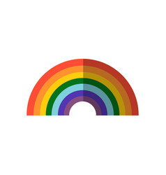 colorful rainbow icon flat vector image