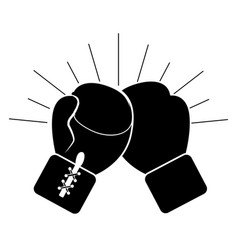 contour boxing gloves icon vector image