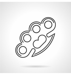 Contour icon for brass knuckles vector