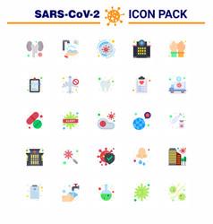 Coronavirus awareness icons 25 flat color icon vector