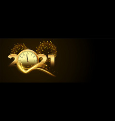 Countdown for new year 2020 with clock vector