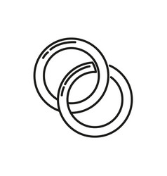 couple rings thin line icon design vector image