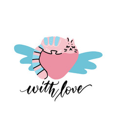 cute hand drawn with sketch vector image