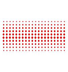 Diamonds suit shape halftone grid vector