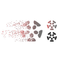 dissipated pixel halftone team icon vector image