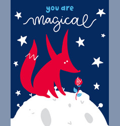 fairytale poster with phrase vector image