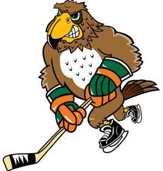 Falcon sports hockey logo mascot vector