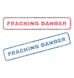 Fracking danger textile stamps vector