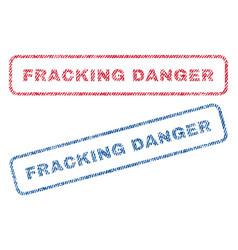 fracking danger textile stamps vector image