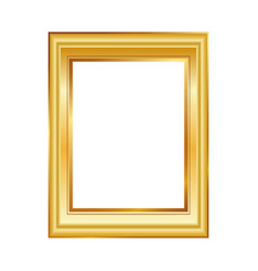 golden frame isolated on white background classic vector image vector image