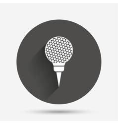 Golf ball on tee sign icon Sport symbol vector