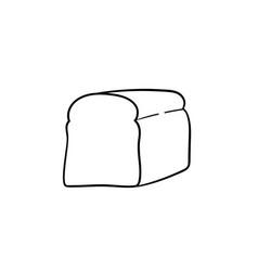 half of bread hand drawn sketch icon vector image