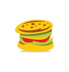 Hamburger Cartoon vector image