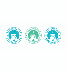 Hand gel sanitizer icons vector