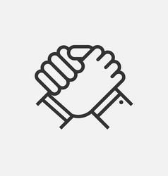 Handshake business partners human greeting arm vector