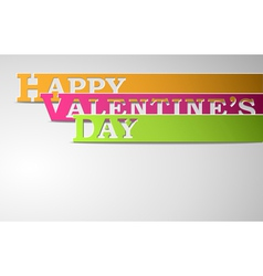 Happy Valentines Day strips vector image