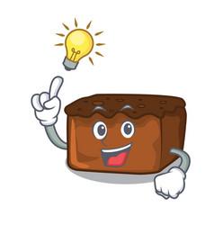 Have an idea brownies mascot cartoon style vector