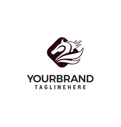 head horse logo designs template vector image